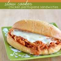 Slow Cooker Pulled Chicken Parmigiana Sandwiches