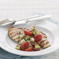 Grilled Rosemary Chicken with Chunky Tomato-Avocado Salsa